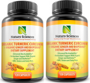 Naturo Sciences Organic Turmeric Curcumin with BioPerine and Ginger
