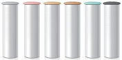 Flint Refill for Retractable Lint Roller with 30 Multi-Use Adhesive Sheets and Interchangeable Caps, Metallic Mix Colours, 6 Refills