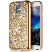 Galaxy S5 Case,Galaxy S5 Neo Case,PHEZEN Galaxy S5 Luxury Glitter Sparkle Bling Case, Electroplated Soft Flexible TPU Bumper Crystal Diamond Protective Back Case Cover For Samsung Galaxy S5, Gold