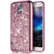 Galaxy S5 Case,Galaxy S5 Neo Case,PHEZEN Galaxy S5 Luxury Glitter Sparkle Bling Case, Electroplated Soft Flexible TPU Bumper Crystal Diamond Protective Back Case Cover For Samsung Galaxy S5, Silver
