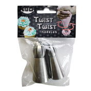Jem 18T & 19T Twist Twist Cake Icing Sphere Nozzles Tips Set Of 2 For Decorating