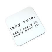 Lazy Rule Funny Wooden Coaster