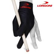 LONGONI Billiard POOL CUE GLOVE - for Left hand - Black