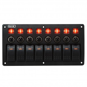 Rupse Waterproof Red LED Rocker Switch Panel 3 PIN Overload protection for RV Car Boat