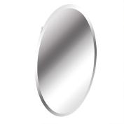 American Pride 97VM131BOR Recessed Frameless Oval Bevelled Polished Edge Mirror Medicine Cabinet, 50cm x 80cm