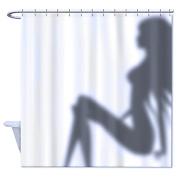 180cm (w) x 180cm (h) Funny Shower Curtain Sexy Woman Shadow Polyester Fabric Waterproof Shower Curtain Bathroom