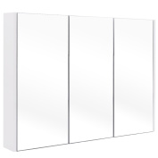 Tangkula 90cm Wide Wall Mount Mirrored Bathroom Medicine Cabinet Storage 3 Mirror Door