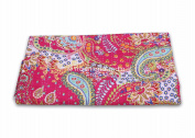 Red Paisley Kantha Throw Indian Handmade Paisley Printed Kantha Quilt, Twin Size Kantha Bedding, Indian Bedspread, Bohemian Kantha Throw, Floral Bed Cover.Vintage Cotton Gudri