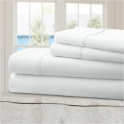 Mellanni 100% Cotton Bed Sheet Set - 300 Thread Count Percale - Deep Pocket - Quality Luxury Bedding - 4 Piece