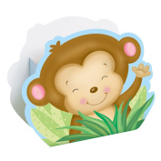Boy Monkey Baby Shower Favour Boxes, 8ct