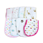 Infant Toddler Should Pads,Organic Muslin Cotton Baby Burp Cloth Should Pads Super Absorbent,At Random