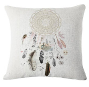 Singleluci Dream Catcher Cotton Linen Throw Pillow Case 45cm x 45cm
