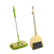 Xifan Mini Housekeeping Cleaning Tools for Children,3pcs Include Mop,Broom,Dustpan