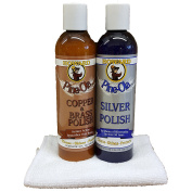 Howard Pine-Ola Silver Polish and Copper, Brass, and Bronze Poulish 240ml, Cleans, Shines, and Protects All Yor Precious Metals, Clean Silver Plating, Polishes Ornamental Copper