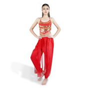 Ladies Belly Dance Costume, SymbolLife Ladies Women Belly Dance Costume Performance Costume, Chiffon Top With Chest Pad + Short Pants