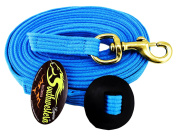 7.3m Flat Cotton Web Lunge Line with Bolt Snap & Rubber Stop - By Southwestern Equine