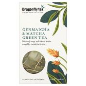 Dragonfly Genmaicha & Matcha Green Tea Pyramids 15 Bags