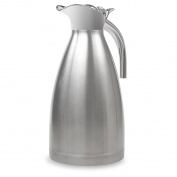2010ml Stainless Steel Thermal Coffee Carafe Double Wall Vacuum Insulated with Press Button Silver by TIMMY