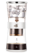Diguo Cold Brew Coffee Dripper Adjustable Ice Drip Dripper with Glass Carafe