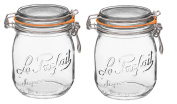 Le Parfait French Super Jar with 85mm Gasket and Lid .75 Litre