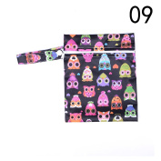 Wet and Dry Baby Bag,Waterproof Resuable Infant Nappy Bag Oranizer Pouch Pocket Bag,15cm x 20cm