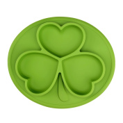 Silicone Baby Plates TOPQSC Shamrock Baby Plates, Infant Antibacterial Waterproof Non-slip Tray, Portable Placemat Kids Placemat