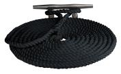 Sea Dog Twisted Nylon Dock Line, Black, 1.3cm x 6.1m