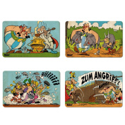 The Adventures of Asterix - Asterix, Obelix & Miraculix Set of Breakfast boards - Set of 4 chopping boards - multicoloured - Licenced original design - LOGOSHIRT