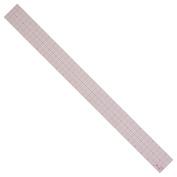 Westcott 8ths Graph Ruler, 5.1cm x 60cm , Transparent