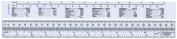 "Westcott Metric/Inch Ruler, 30cm, 12"", Opaque"
