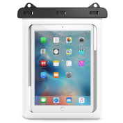 Universal Waterproof Case, MoKo Dry Bag Pouch for New iPad 9.7 2017, iPad Pro 9.7, iPad Air/Air 2, iPad 2/3/4, Tab S3 9.7, Tab S2 9.7, Tab A 9.7, Tab E 9.6 and Other Tablets up to 25cm , WHITE