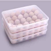Eslite Covered Egg Holder,Eggs Dispencer for 24 Eggs - Clear