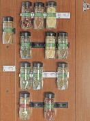 SimpleHouseware 30 Spice Gripper Clips Strips Cabinet Holder - 6 Strips, Holds 30 Jars