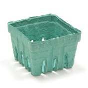 Green Moulded Pulp Fibre Berry / Produce Vented 1 Pint Basket by MT Products -