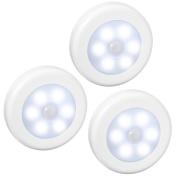 AMIR Motion Sensor Light, Cordless Battery-Powered LED Night Light, Stick-anywhere Closet Lights Stair Lights, Safe Lights for Hallway, Bathroom, Bedroom, Kitchen, etc.