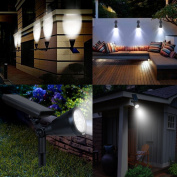 AMIR Upgraded 2 in 1 Solar Lights, (2 Pack) Waterproof Outdoor Landscape Lighting Spotlight Wall Light Auto On/ Off for Yard Garden Driveway Pathway Pool Tree Patio