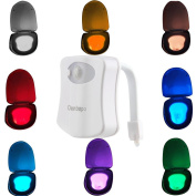 Colourful Motion Sensor Toilet Nightlight ,Oenbopo Home Toilet Bathroom Human Body Auto Motion Activated Sensor Seat Light Night Lamp 8-Colour Changes
