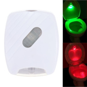 Docooler LED Human Motion Activated PIR Light Sensor Toilet Lamp Battery Operated LED Night Light Bathroom Use Red and Green Light
