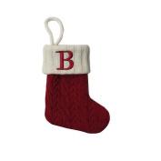 St. Nicholas Square Mini Cable Knit Stocking-Letter B