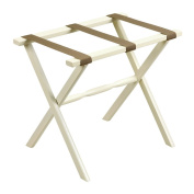 Ivory Straight Leg Luggage Rack with Beige Straps
