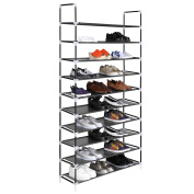 Homdox 10 Tiers Shoe Rack Fabric Shoe Tower Organiser Super Space Saving Shoe Cabinet Entryway Closet Stackable Shelves