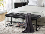 Zinus Faux Leather Tufted / Hallway / Entry / Bed / 120cm Bench with Storage Shelf
