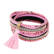 Diamondo Multilayer Women Bracelets Rhinestone Tassel Magnetic Bangles
