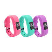 12 Colours Garmin Vivofit JR Bands With Secure Watch Clasp , BeneStellar Silicone Replacement Bands for Garmin Vivofit JR (for Kids)