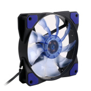 SCASTOE 3-Pin/4-Pin 120mm PWM PC Computer Case Cooling Fan CPU Cooler with 15 LED Light