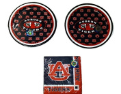 University of Auburn Tigers Party Bundle 18cm Plates (16) Beverage Napkins