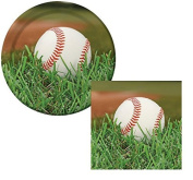 Baseball Sports Fanatic Lunch Plates & Napkins Party Kit for 8