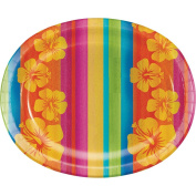 Creative Converting Sunset Stripes Oval Paper Platters, 8-Count