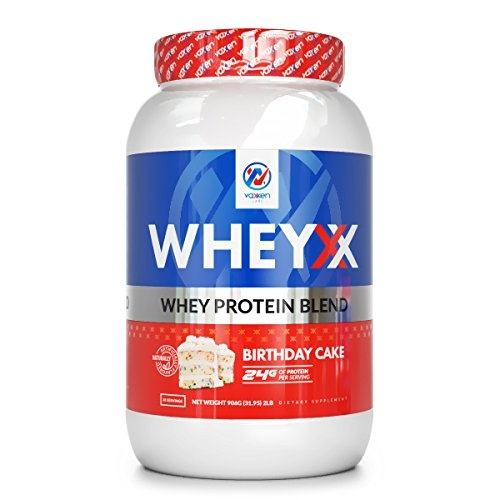 Vaxxen Labs WheyXX Whey Protein Powder Blend Birthday Cake 09kg By