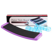 YaFex Ballet Turn Board, Dance Equipment Turning Board with a Pair of Toe Separator, Birthday Gift for Budding Ballet Dancer